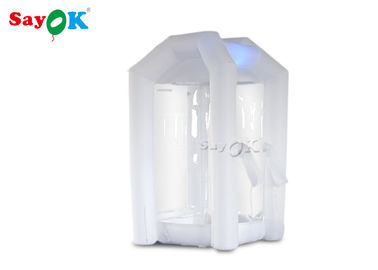 China 1.5*1.5*2.5m  Custom Inflatable Products White Inflatable Money Machine Booth For Business factory