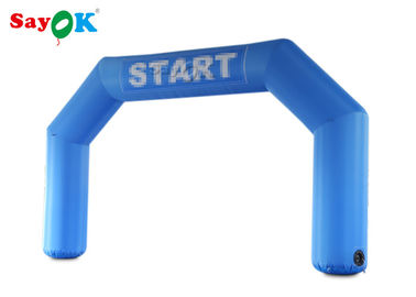 Blue Start Line Inflatable Arch With Air Blower For Promotions Customized Logo