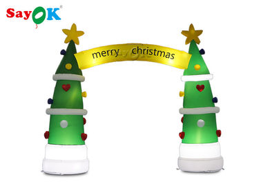 ROHS Inflatable Holiday Decorations Christmas Tree Arch 4*3.2mH