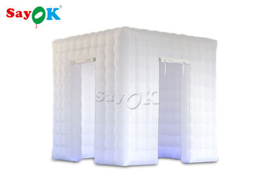SGS Inflatable Cube Photo Booth With Two Doors For Wedding Party Rental