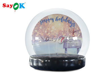 PVC Christmas Ornaments Inflatable Snow Globe For Outdoor Advertising