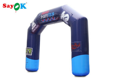 Outdoor Sport Racing Games Inflatable Finish Line Arch / Blow Up Entrance Arch