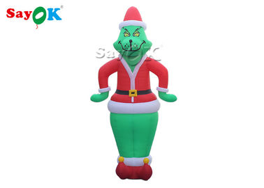 China Green Hair Clown Inflatable Cartoon Characters For Advertising Double Sewing factory