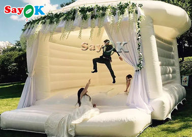 China Commercial Inflatable Bounce For Wedding Party / White Bouncy Castle factory