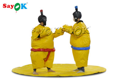 Waterproof Yellow 1.8m Inflatable Sumo Wrestling Suits