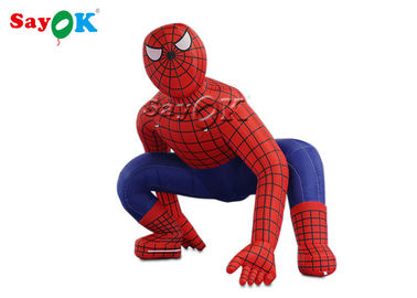 Super Hero 2.5m Red Inflatable Spiderman For Ceremony Decoration