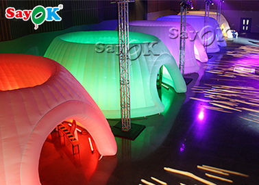 Outdoor Event 6m Inflatable Igloo And Dome Tent With LED Light