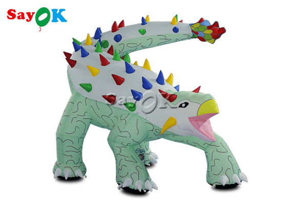 1.8x1.2mH Inflatable Ankylosaurus Cartoon Model For Advertising