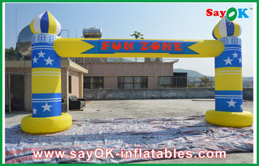 China Advertising Events Inflatable Finish Arch With Logo Printing 6m x 3m factory