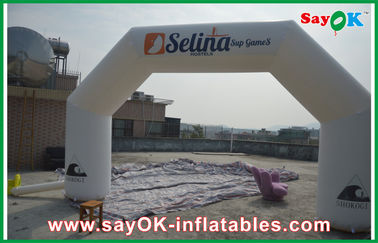 China Wind-resist White Inflatable Arch 400D Oxford Cloth for Advertising Campaign factory
