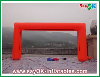 China PVC / Oxford Cloth Inflatable Arch , Logo Inflatable Square Finishing Arch factory