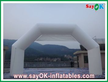 China Fire Resistance White Inflatable Finish Arch PVC For Advertising / Event factory