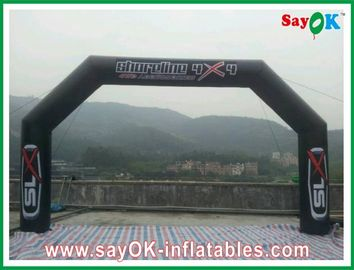 China Blower Inflatable Finishing Line Arch PVC Black CE / UL Certificated factory