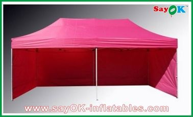China L6m x W3m Gazebo Folding Tent Canopy Sun-resistant With 3 Sidewalls Iron Frames factory
