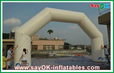 China Exhibition Inflatable Finish Arch Durable With Oxford Cloth 0.4mm PVC factory