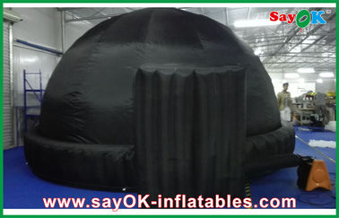 Black Round 5m Inflatable Dome Tent Oxford Cloth For Teaching
