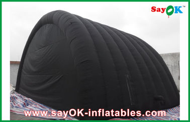 Black Waterproof Inflatable Air Tent With Oxford Cloth And PVC Coating For Ourdoor