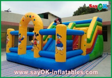 China Mickey Mouse Castle Bounce House Inflatable For Family Entertainment factory