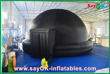 Black Inflatable Planetarium , Durable Inflatable Projection Tent Mobile Cinema