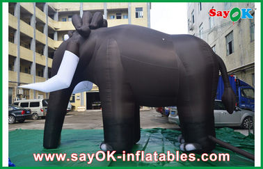 Big Elephant Inflatable Cartoon Characters Blower For Ourterdoor Customized