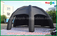 Black PVC Inflatable Air Tent / Advertising Dome Spider Tent With Blower