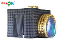 Anti - Water PVC Or Oxford Black Inflatable Photo Booth With Camera ROHS