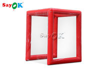 Fire Proof Outdoor Red Inflatable Medical Tent 2x2x2.5mH Or Customized