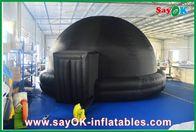 Black Inflatable Planetarium , Durable Inflatable Projection Tent Mobile Cinema