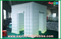 2 Doors Inflatable Photo Booth LED Light 2.5m Color Changed With Blower