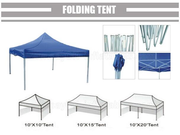 L6m X W3m Gazebo Folding Tent Canopy Sun Resistant With 3