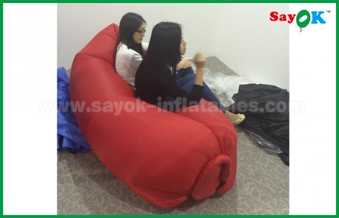 Beach Hangout Inflating Sofa Rip Stop Nylon Inflatable Sofa Bed CE