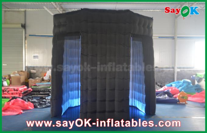 Newest Inflatable Lingting Octagon Photo Booth Oxford Cloth For Wedding Or Event