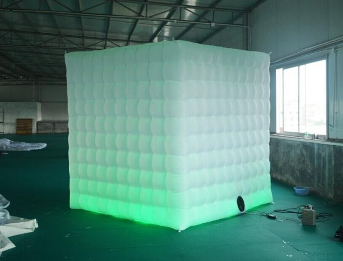 2 Doors Inflatable Photo Booth LED Light 2.4m Color Changed With Blower