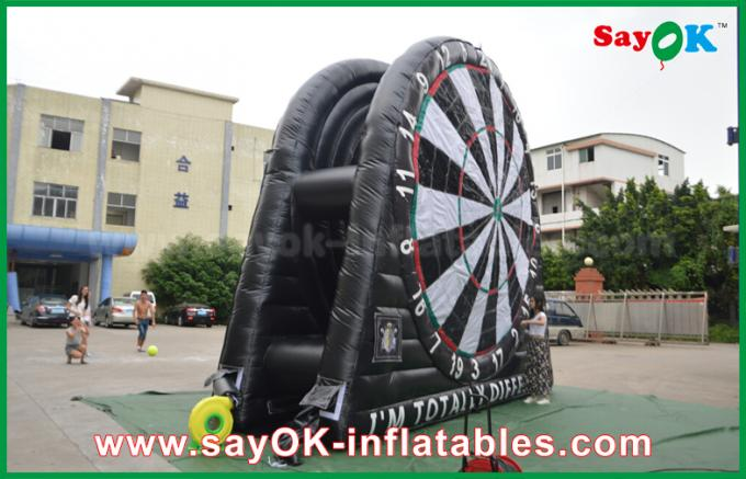 PVC Tarpaulin Inflatable Sports Games , Custom Advertising Inflatables Dart Board