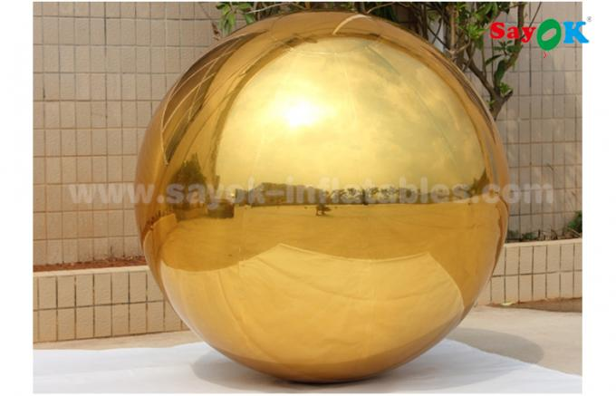 1m PVC Gold Inflatable Mirror Ball For Indoor Decoration Wedding Party