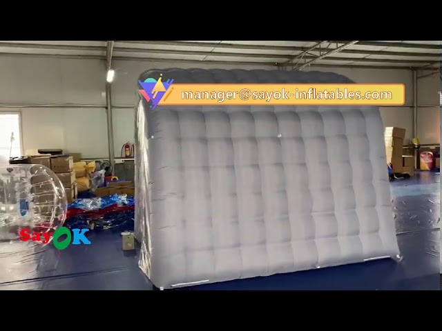 Gray Inflatable Medical Tent Disinfection Tunnel For Hospital Equipment