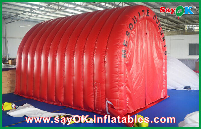 China Red Waterproof Inflatable Air Tent Inflatable Tunnel With Custom Logo Mark supplier & Waterproof Inflatable Air Tent Inflatable Tunnel With Custom Logo Mark