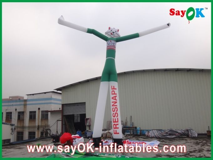 Wind Resistant Inflatable Funny Cat Air Painting Dancer 6M Tall With CE Blower