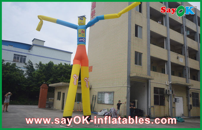 7m High Heavy Duty Inflatable Air Dancer Man With Custom Logo For Promotion