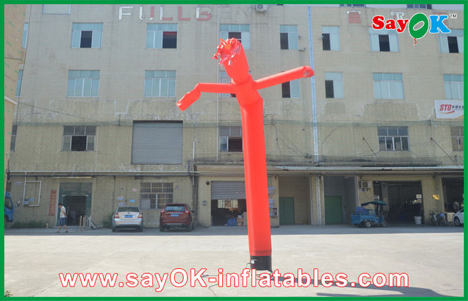 Long Tube Man Waving Inflatable Air Dancer With 1 Leg Party Use