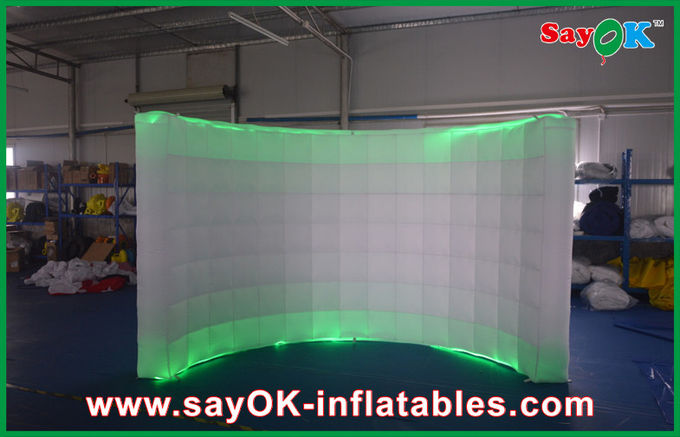Attractive Giant Inflatable Air Wall Waterproof 2 Led Light
