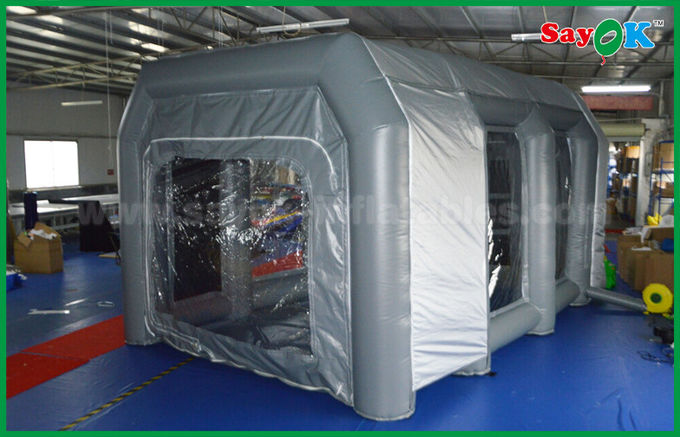 Waterproof Cutomized Inflatable Air Tent / PVC Inflatable Spray Booth For Car Paint Spraying