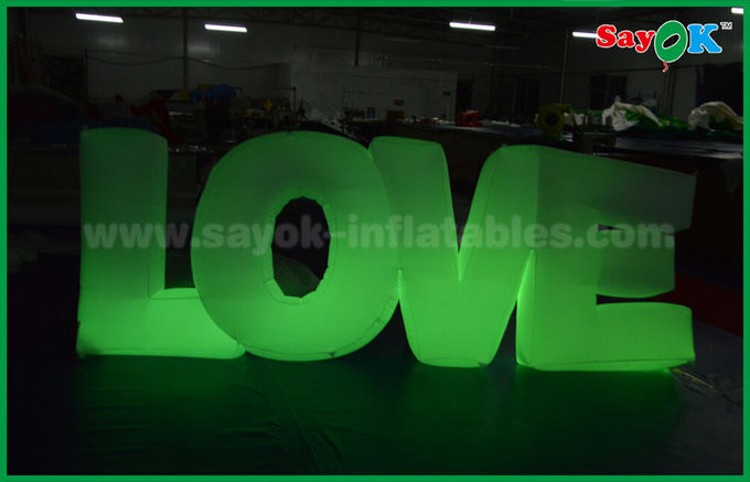 Romantic Inflatable Lighting Decoration , Inflatable Love Letter With LED Light