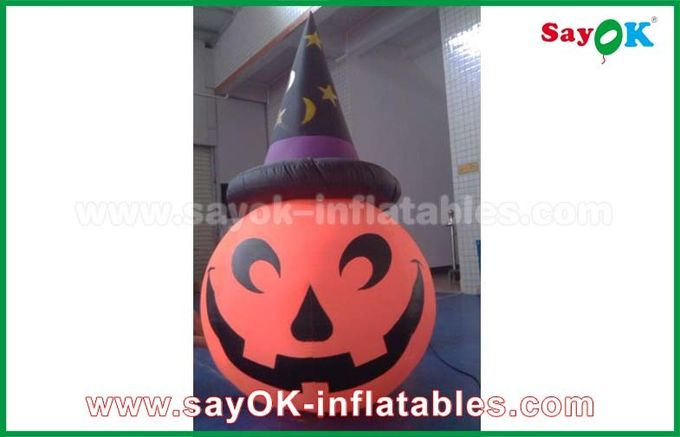 Inflatable Holiday Decorations , Pumpkin Inflatable Cartoon Characters For Halloween