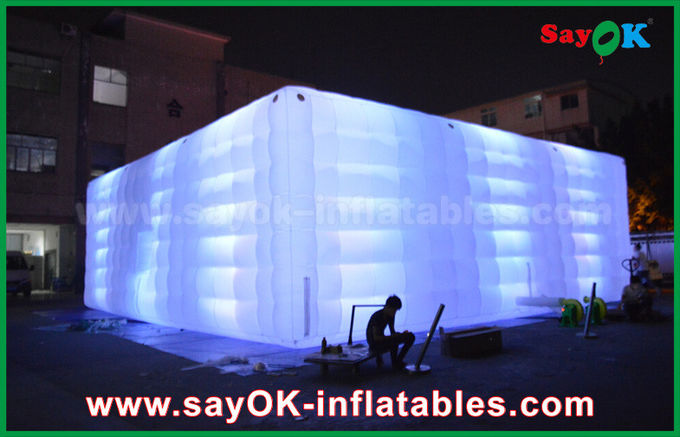 Giant White  210 D Oxford Inflatable Air Tent With LED Lighting for Party