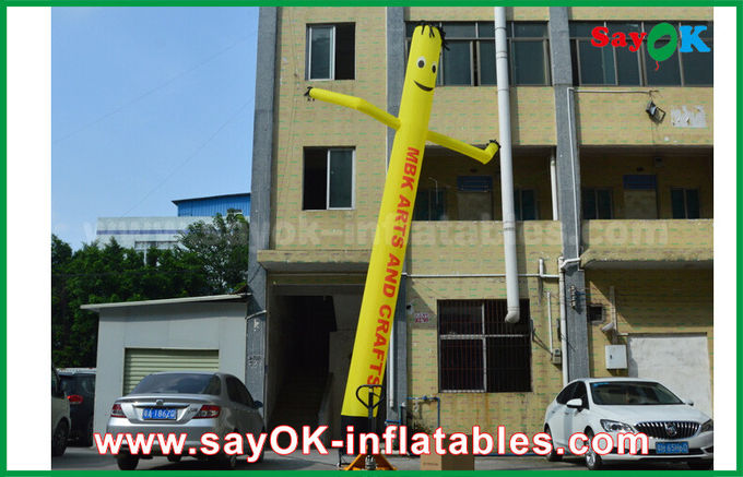 Yellow Inflatable Air Dancer Cooker for Advertising , Inflatable Sky Dancer