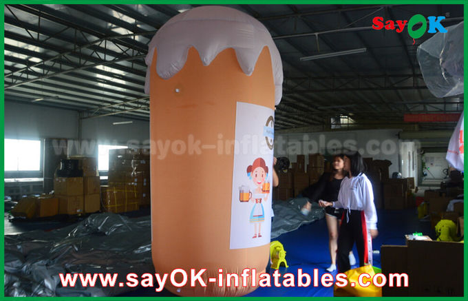 Orange Custom Inflatable Products / Inflatable Cup and Beer for Promotion / Party
