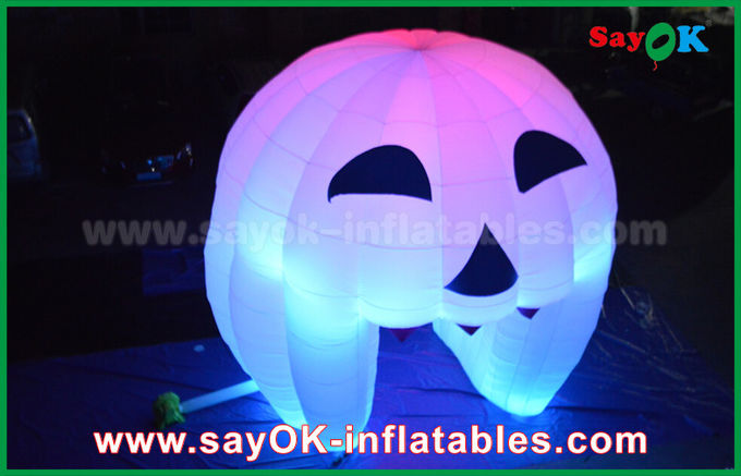 Cute Inflatable Holiday Decorations Lighting Ghost Door / Large Inflatable Pumpkin