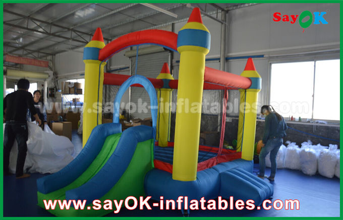 Small 2x2m Oxford Cloth Inflatable Bounce , Kids Bouncy Castle