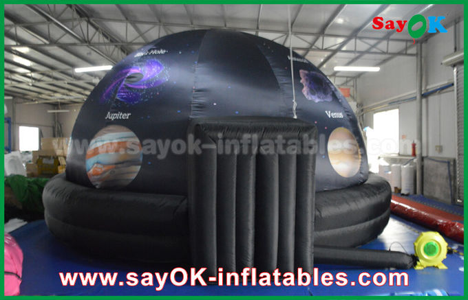 210 D Oxford Cloth And Projection Inflatable Planetarium Dome Black Color